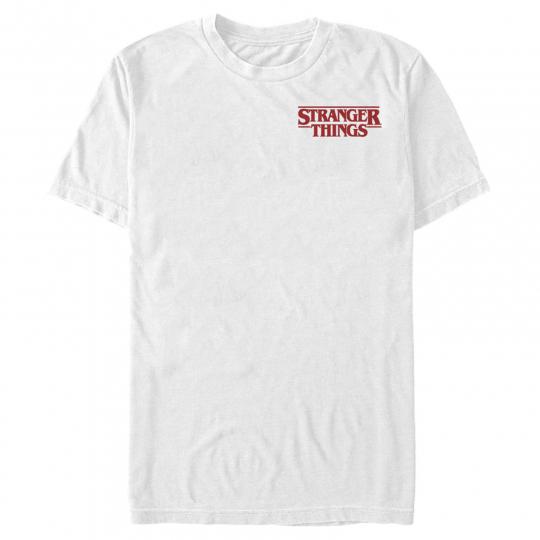 Stranger Things Bold Logo Badge Mens Graphic T Shirt