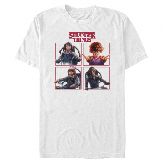 Stranger Things Character Squares Mens Graphic T Shirt