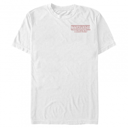 Stranger Things Classic Logo Badge Mens Graphic T Shirt