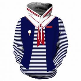 Stranger Things Cosplay 3D Printing Hoodie Jacket Zipper Hooded Coat Sweatshirt