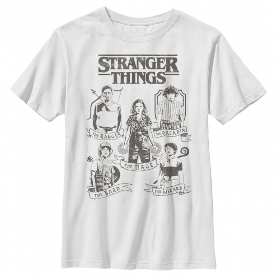 Stranger Things Group Shot Classes Boys Graphic T Shirt