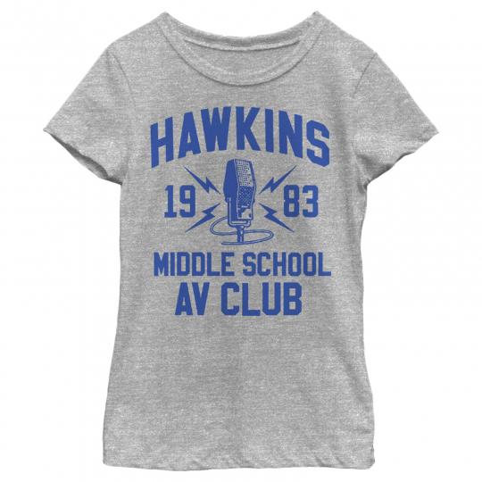 Stranger Things Hawkins AV Club 1983 Girls Graphic T Shirt