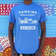 Stranger Things   Hawkins AV Club T-Shirt (Mens)
