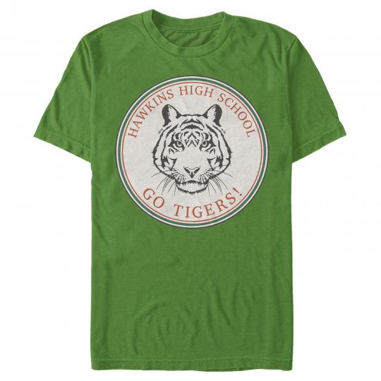 Stranger Things Hawkins High School Go Tigers Mens Graphic T Shirt