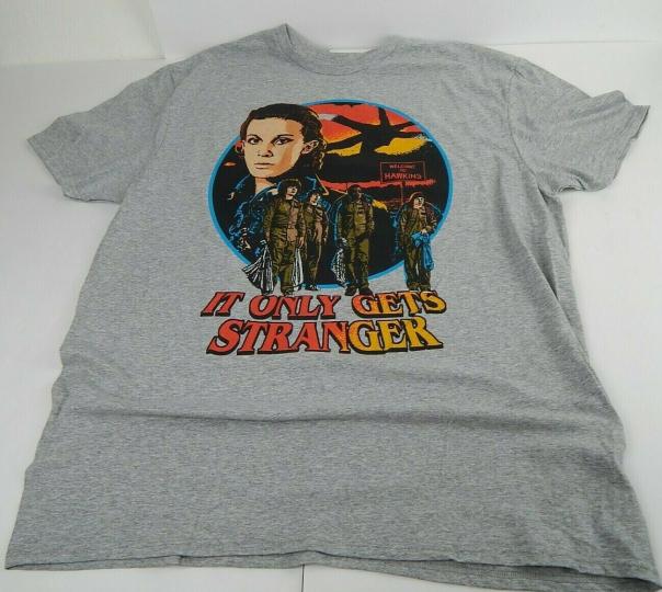 Stranger Things It Only Gets Stranger TV Show Men's T Shirt Available Sizes S XL