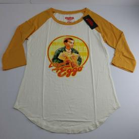 """Stranger Things Juniors' Women Netflix T-Shirt """"Eggo""""  White Ivory Yellow"""