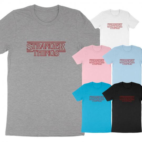 Stranger Things Logo Halloween The Upside Down Eleven Horror Monster T-Shirt Tee