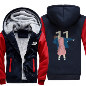 Stranger Things Men Women Winter Thicken Hoodie Warm Sweatshirt Leisure Jacket