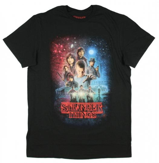 Stranger Things Men's Poster Design Graphic T-Shirt