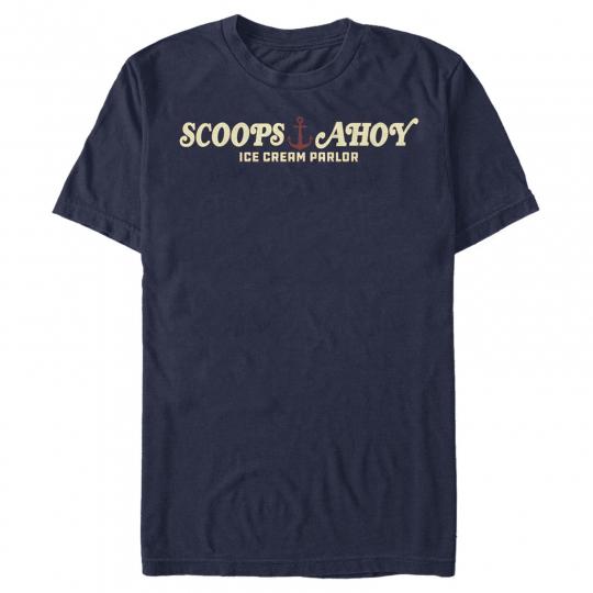 Stranger Things Scoops Ahoy Nautical Logo Mens Graphic T Shirt