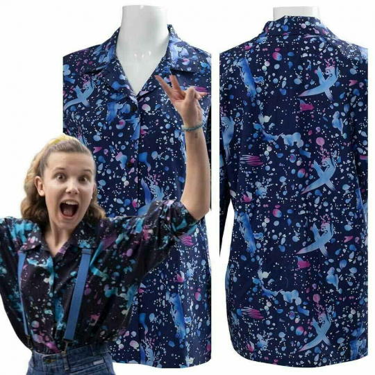 Stranger Things Season 3 Eleven Cosplay Costume T-Shirt Halloween Dress Outfit