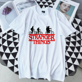 Stranger Things T Shirt Woman Round Collar Short Sleeve Soft Tops Size Plus Te