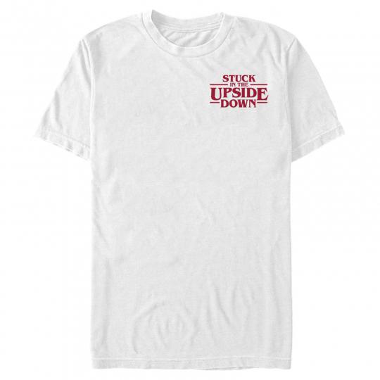 Stranger Things Upside Down Badge Mens Graphic T Shirt