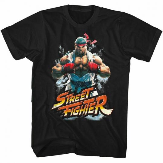Street Fighter Fistbump Black Adult T-Shirt