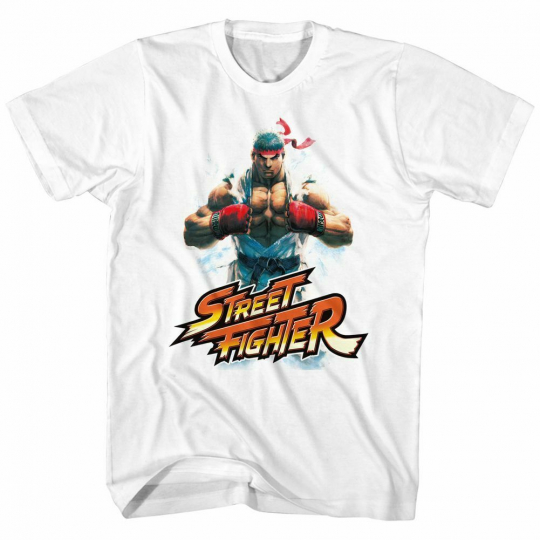Street Fighter Ryu White Adult T-Shirt