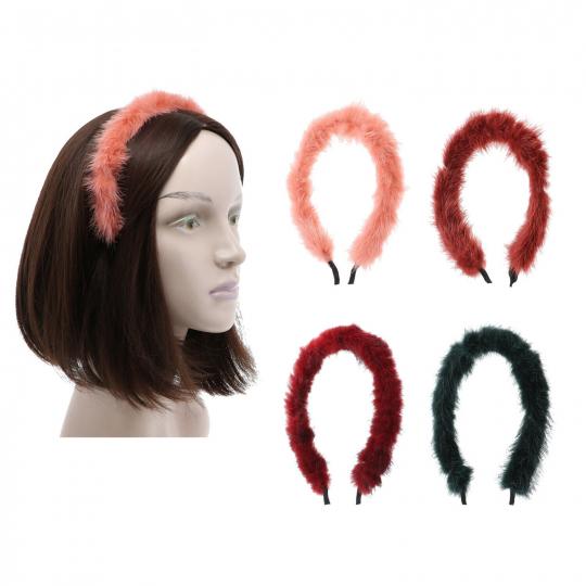 Stunning Stylish Headband Girls Faux Fur Hair Band w/Teeth Pretty Tiara