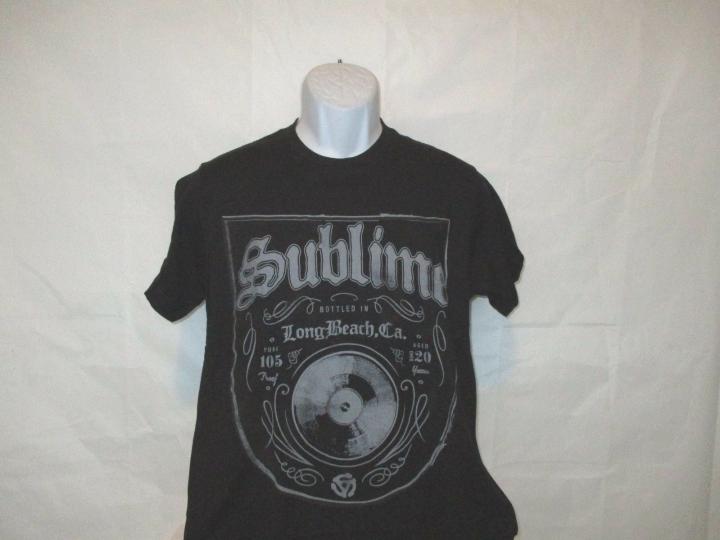 Sublime Bottled in LBC Black Band T-Shirt Adult Medium - X-Large NEW