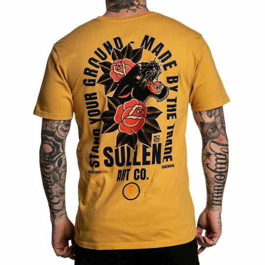 Sullen Men's Chambers Gold Premium Short Sleeve T Shirt Yellow Gold Artist Mike