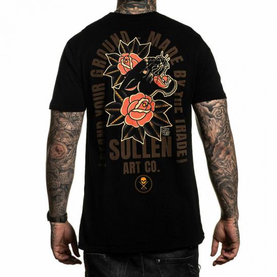 Sullen Men's Chambers Standard Short Sleeve T Shirt Black Artist Myke Chamber...