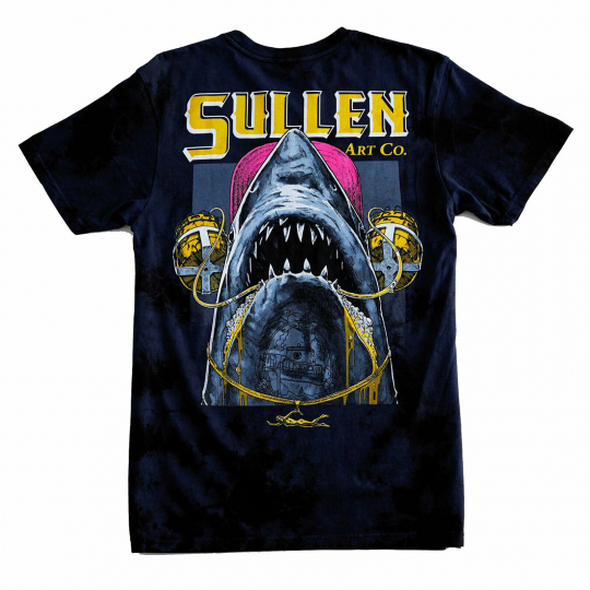 Sullen Men's Chuggin Short Sleeve T Shirt Navy/Black Clothing Apparel Rose Sk...