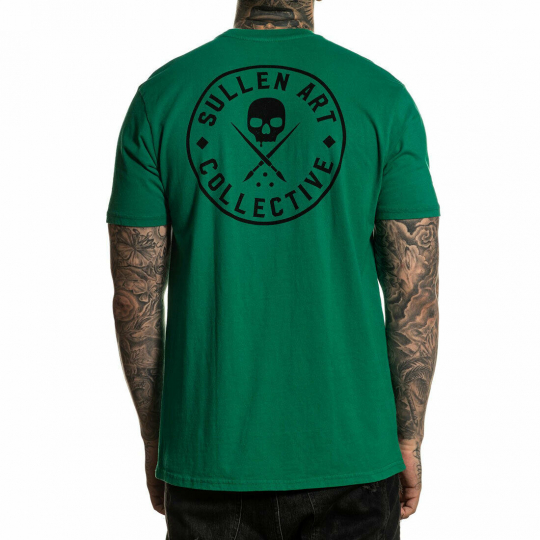 Sullen Men's Ever Premium Short Sleeve T Shirt Green Clothing Apparel Tattooe...