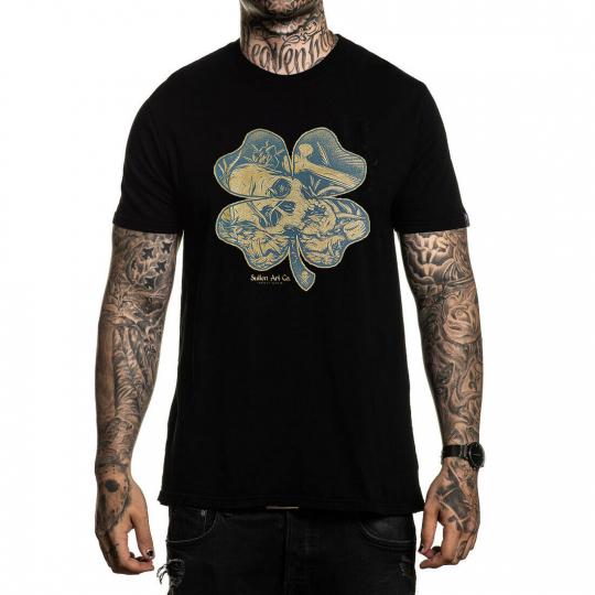 Sullen Men's Fools Gold Short Sleeve T Shirt Black Clothing Apparel Skull Dope W