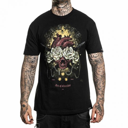 Sullen Men's Heart Beat Standard Short Sleeve T Shirt Black Artist Dominic Holme
