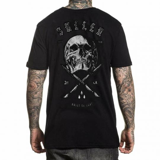 Sullen Men's Namsing Badge Short Sleeve T Shirt Black Clothing Apparel Tattoo...