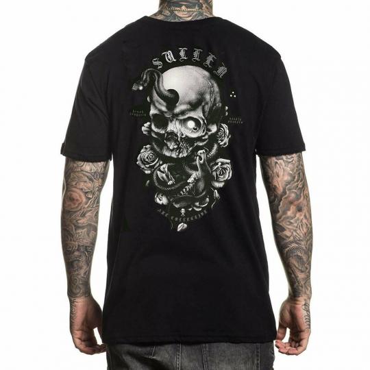 Sullen Men's Niclas Serpent Short Sleeve T Shirt Black Clothing Apparel Tatto...