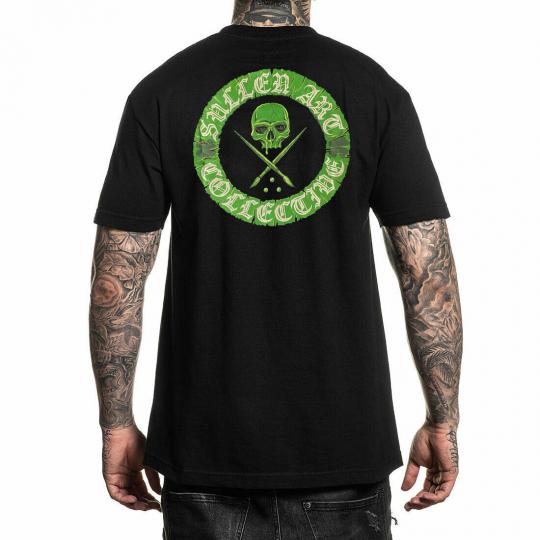 Sullen Men's Paddy Badge Short Sleeve T Shirt Black Irish Ireland Saint Patricks