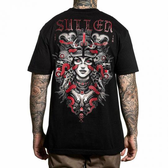 Sullen Men's Reds Short Sleeve T Shirt Black Morozov Clothing Apparel Tattooed S