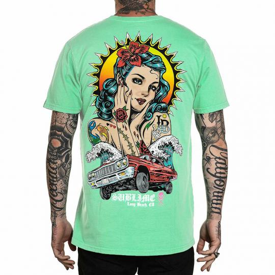 Sullen Men's Ruca Short Sleeve T Shirt Neptune Green Clothing Apparel Tattooe...