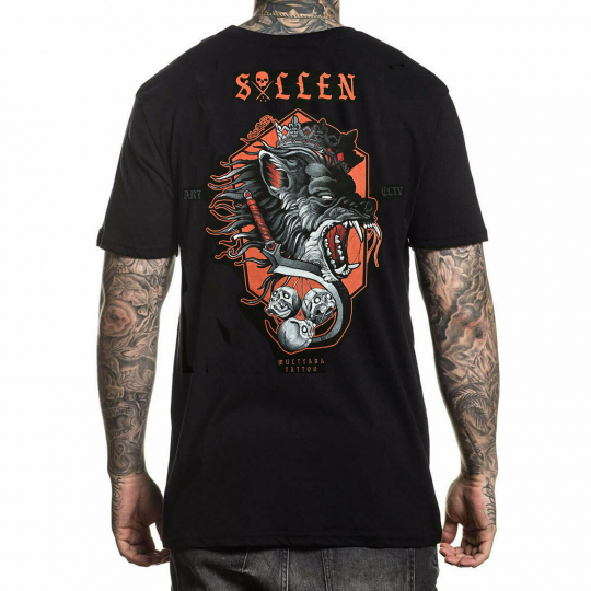 Sullen Men's Snarl Short Sleeve T Shirt Black Halloween Series Clothing Appar...
