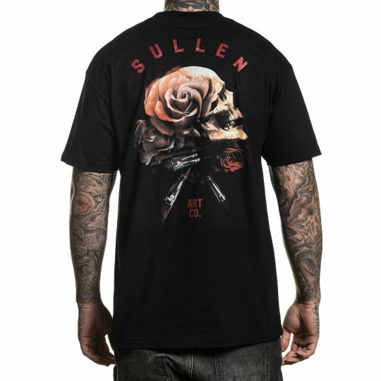 Sullen Men's Still Life Short Sleeve T Shirt Black Clothing Apparel Tattooed Rap