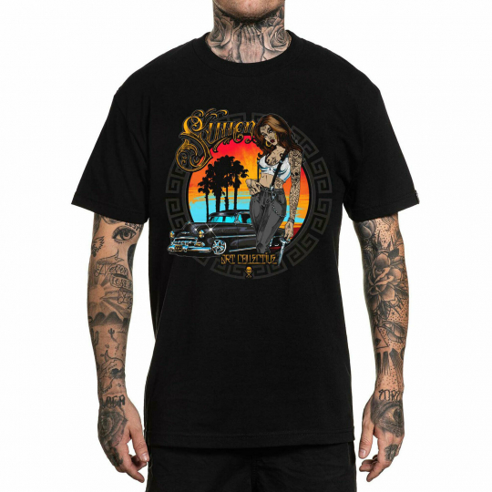 Sullen Men's Viva La Raza Short Sleeve T Shirt Black Clothing Apparel Tattooe...