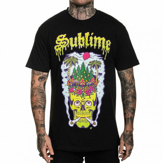 Sullen x Sublime Men's Head High Standard Short Sleeve T Shirt Black Clothing...