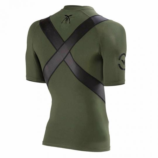 Sullen x Virus Men's Posture Correct Short Sleeve T Shirt Olive Green Clothin...