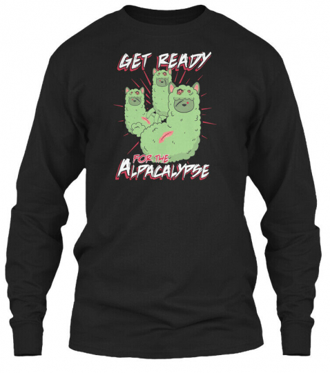 Supersoft Zombie Alpaca Lips Halloween Pun Llama Gildan Long Sleeve Tee T-Shirt