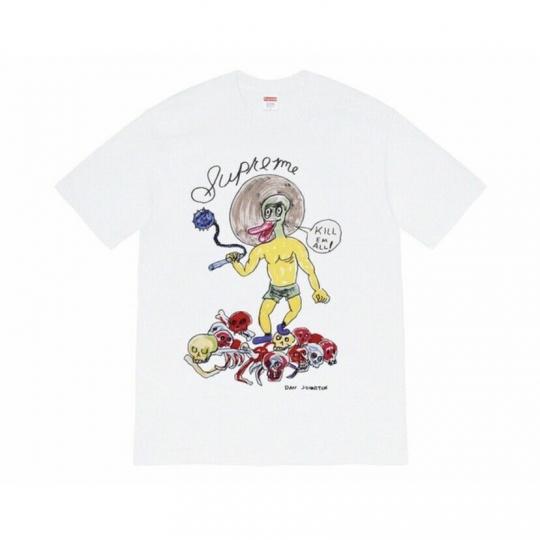 Supreme Daniel Johnston Kill Em All Tee Shirt White SS20 Size XL