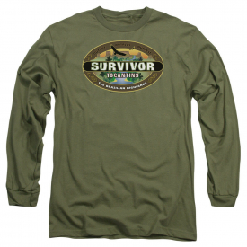 Survivor TV Show TOCANTINS LOGO Licensed Adult Long Sleeve T-Shirt S-3XL