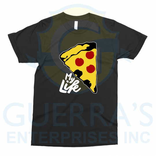 T-Shirt Pizza is My Life I Like Love Want Pizzas Tee T Shirt Funny Cool Gift Fat