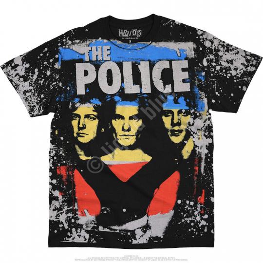 THE POLICE-SYNCHRONCITY-HAVOK BLACK T SHIRT S-M-L-XL-2X