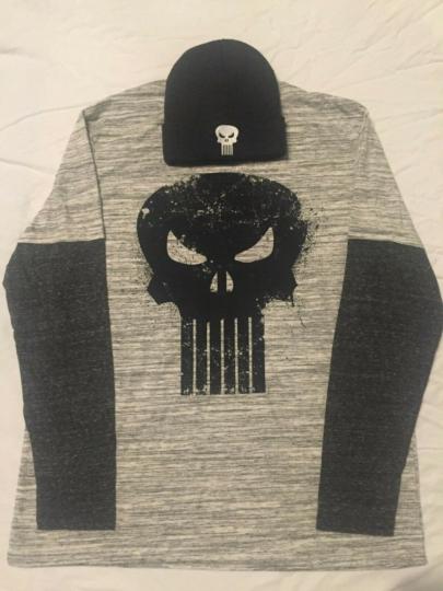 THE PUNISHER Marvel COMIC BOOK skull MEN'S New Long Sleeve T-Shirt