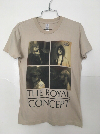 THE ROYAL CONCEPT Swedish Rock Band Signed Graphic Tee Light Brown Unisex Small