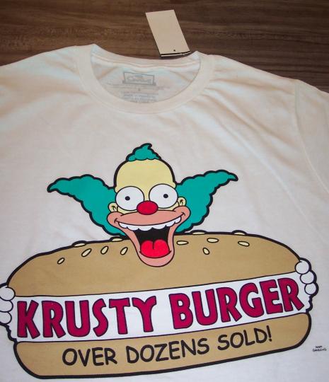 THE SIMPSONS KRUSTY THE CLOWN Krusty Burger T-Shirt 2XL XXL NEW w/ TAG