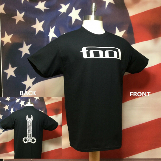 TOOL T-Shirt Band Wrench New 2 Side Graphic - Tool Band Wrench Shirt - S-5X New