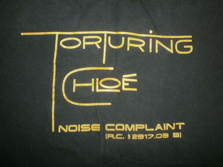 TORTURING CHLOE T SHIRT Noise Complaint Toledo Swanton Ohio Band Tour vtg 90s LG