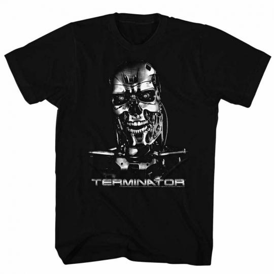 Terminator Chrome Black Adult T-Shirt