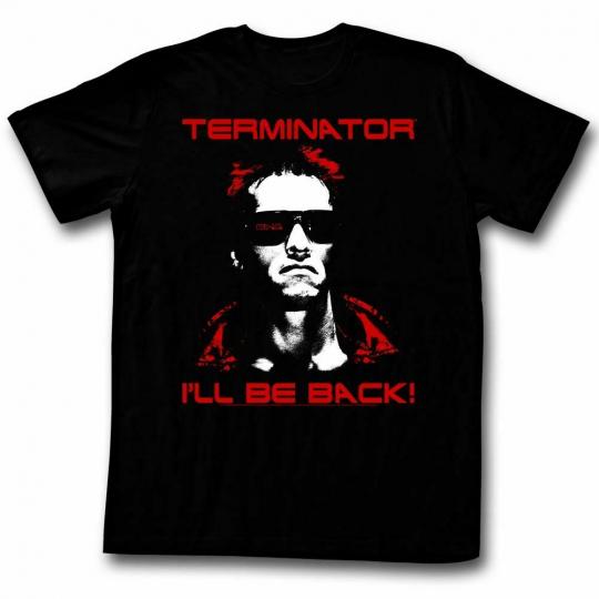 Terminator Same Ol' T Black Adult T-Shirt