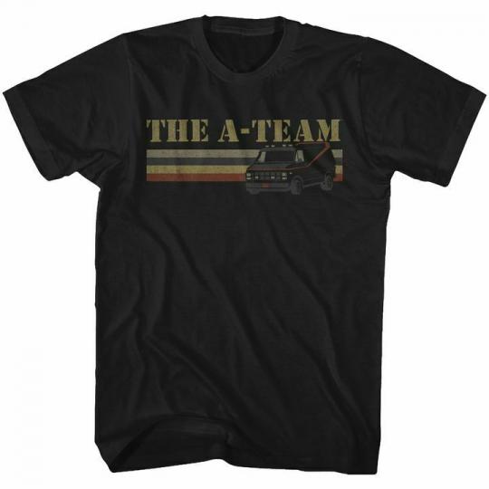 The A-Team Van Lines Black Adult T-Shirt